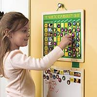 Magnetic responsibility chart set, 'Fun with Chores' - Magnetic Responsibility Chart with White Board and 90 Tiles
