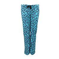 Plush Warmth  - Blue Heart Leopard Print 100% Drawstring Pants
