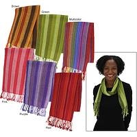 A Tradition of Color - Hand-Loomed 100% Alpaca Wool Bolivian Scarf Assorted Colors