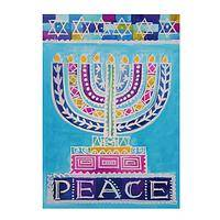 Eight Days of Peace - Colorful Menorah Hanukkah Cards (Box of 15)