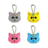 Crazy For Cats - Set of 4 Adorable Double Sided Kitty Key Covers