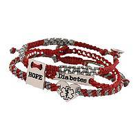 Symbolic Hope Medic-Alert - Handcrafted Guatemalan Diabetes Awareness Bracelet Trio