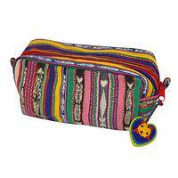 Spectrum of Beauty - Eco-Friendly Recycled Textile Cosmetic Bag from Guatemala