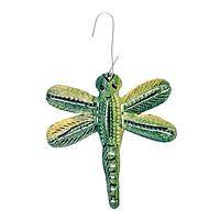 Green Hanging Dragonfly - Recycled Metal Haitian Style Ornament