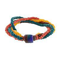 Fire and Ice - Recycled Glass Bracelet from Ghana