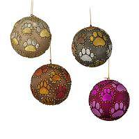Paw-fect Holiday Decor - Playful Paw Ball Ornament