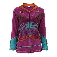 Flutter of Brilliance - Handmade Fair Trade Cotton Butterfly Jacket from Nepal