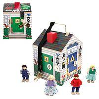 Welcome Home Learning House - Doorbell Wooden Activity Doll's House (Ages 3 and Up)