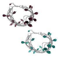 Dreamy Drops  - Splendid Glass Teardrop Beads Silvery Bracelet