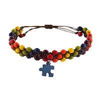 Solving the Puzzle - Dyed Chirilla Seed Autism Awareness Bracelet
