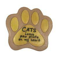 Coolest Garden Stone! - Cats Leave Paw Prints On My Heart Glow-in-the-Dark Stone