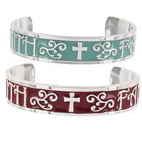My Faith Cuff Bracelet - Christian Faith Cuff Bracelet