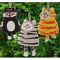 Jingle Cats - Fair Trade Ceramic Cat Bell Ornaments from Mexico