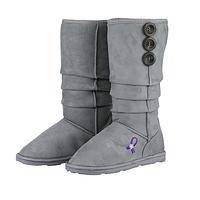 Winter Kicks - Manmade Alzheimer's Awareness Stylish Slouch Boots