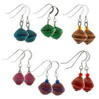Swahili Joy - Ugandan Handmade Recycled Paper Earrings