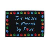Welcoming Paws  - Rubber Indoor/Outdoor Paw Print Mat