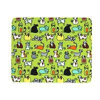 Cat and Mouse - Cat-Themed Nonslip Neoprene Mousepad