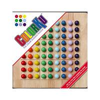 ColorKu Puzzler - Solid Wood ColorKu Color Sudoku Puzzle Game Board