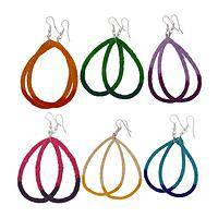 Rings of Brilliance - Handmade Sisal Grass Dip-Dyed Colorful Hoop Earrings