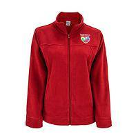 Crimson Embrace - Plush Fleece Autism Awareness Jacket