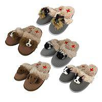 Precious Pooch Slippers - Fuzzy Nation Dog Slippers with Rubber Soles