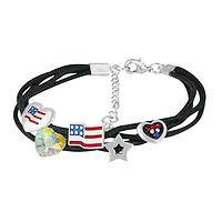 American Charm - Hand-Painted Metal and Enamel Americana Charm Bracelet