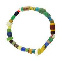The Colors of Compassion - Sand Cast Glass Bead Stretch Bracelet for Darfur Relief