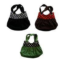 Polka Dot Whimsy - Handmade Silk and Wool Polka Dot Handbag