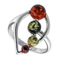 Eternally Yours - Baltic Amber and Sterling Silver Teardrop Ring