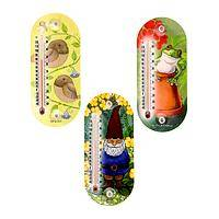 Nature's Little Gardeners - Friendly Garden Helpers Acrylic Window Thermometer