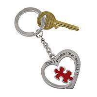 Open Heart Puzzle Piece - Angels Are Closer Than You Think Puzzle Key Chain