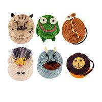 Animal Friends Keepsake Boxes - Eco-Friendly Handwoven Lidded Sisal Animal Baskets