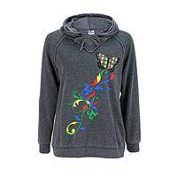 A Rainbow of Potential - Autism Awareness Bright Butterfly Cotton/Poly Burnout Hoodie