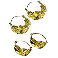 Golden Delights - Fair Trade Brass Fulani Earrings from Earrings