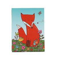 Forget Me Not - Illustrated Purse Notes of Cheeky Fox with Magnetic Closure