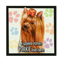Spoiled Yorkie Lives Here - Yorkie Dog Breed Magnet