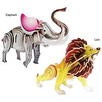 African Menagerie  - Wooden 3D African Animal Construction Kit
