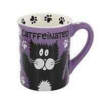 Wired Cat Tired Cat - Are CAT-Ffeinated or De-Catf? Kitty Humor Ceramic Coffee Mug