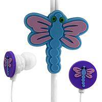 Dragonfly Budz - Cute dragonflies adorn these earbuds/headphones