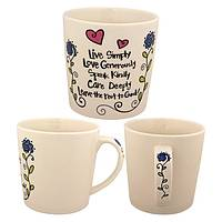 A Garden of Kindness - Live Simply Inspirational Ceramic Grande Mug