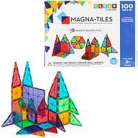 Inventive Exploration - 100 Piece Clear Colors Magnetic Tile Building Set