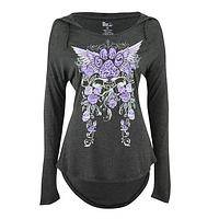 Paws and Roses - Soft Hooded T-Shirt