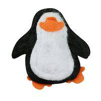 Penguin Kitty Toy - Handmade felt penguin cat top filled with organic catnip