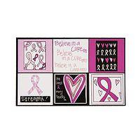 Believe in the Cure Magnets - Breast Cancer Awareness Fridge Magnets (Set of 6)