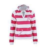 Navigate Hope - Striped Pink Ribbon Sailor Hoodie of Love and Fashion