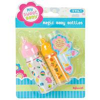 Magic Baby Doll Bottles - Toysmith Bottles with Pretend Milk and Juice (Set of 2)