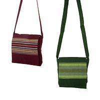 Hypnotic  - Handcrafted Guatemalan Striped Sling Bag