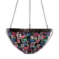 Live, Love, Laugh Basket - Breast Cancer Awareness Hanging Garden Basket