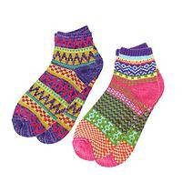 Colors of a Winter Night - Richly Patterned Slipper Socks to Chase the Winter Chills