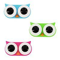 Wise Eyes - Colorful Owl Eyes Contact Lens Case
